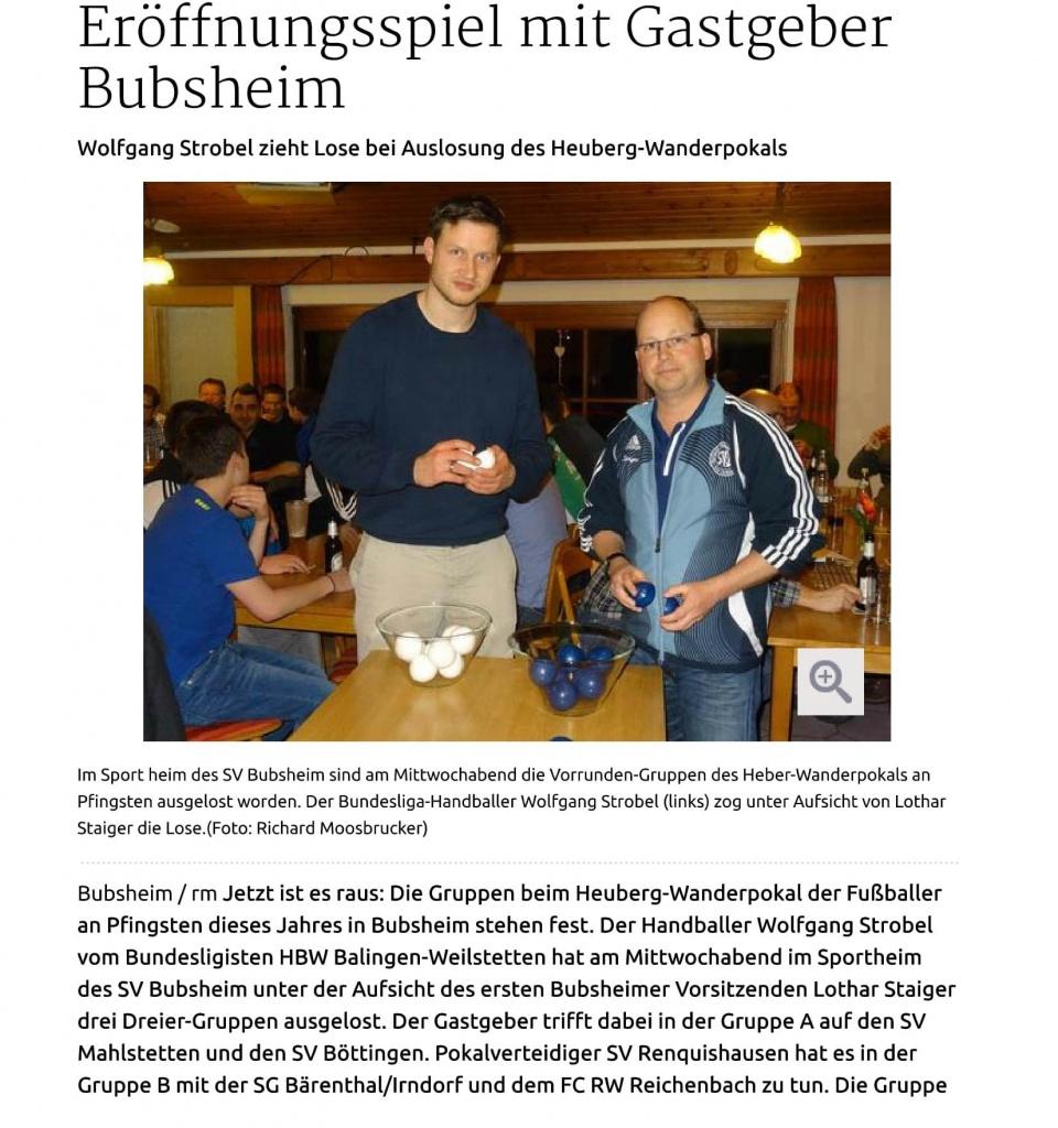 05.003.15 Heuberger Bote Auslosung Tuttlingen Er+Âffnungsspiel mit Gastgeber Bubsheim-1