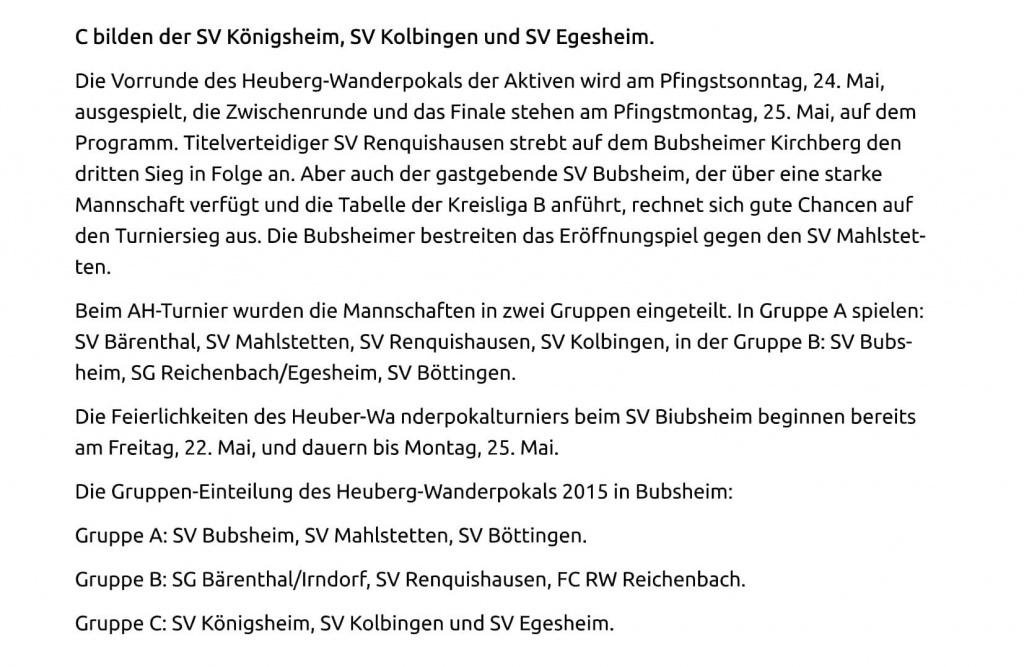 05.003.15 Heuberger Bote Auslosung Tuttlingen Er+Âffnungsspiel mit Gastgeber Bubsheim-2