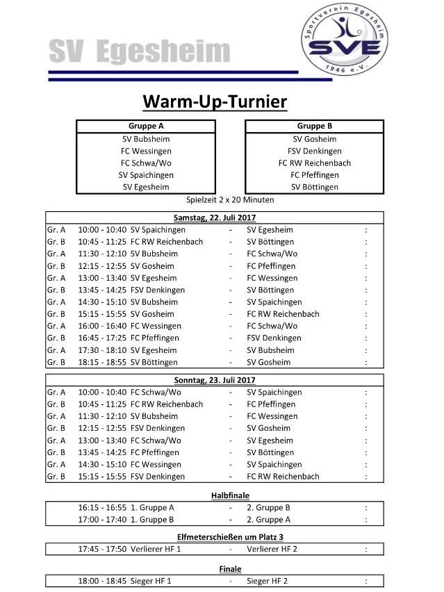 Warm-Up-Turnier des SV Egesheim